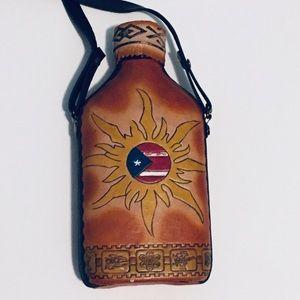 Vintage leather bottler